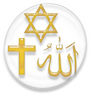 The Star of David, Christian Cross and the Star and Crescent