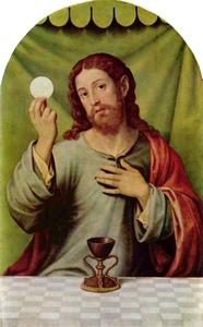 Christ institutes the Eucharist