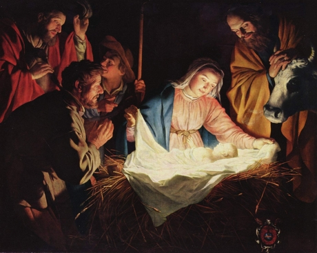 The Nativity, by Gerard van Honthorst